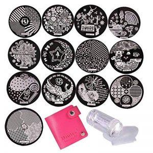 Biutee 13pcs Modèle Image Nail Plates Stamper Grattoir Sets Nail Art Stamping Outil Vernis à Ongles Tampon Set Plaques d'acier (Couleur Aléatoire) de la marque Biutee image 0 produit