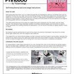Bois Mounted Tampon encreur personnalisé Monogramme Stamp Engagement Cadeau de la marque Printtoo image 4 produit
