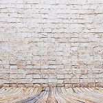BPS Fond Tissu de Studio Photo pour Portraits 2.1x1.5m de Couleur Jaune, Mur en Brique et Planche en Bois, Matière Imperméable de la marque BPS image 1 produit