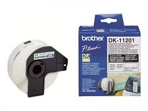 Brother Original DK11201 Noir sur Blanc Étiquettes Adresses   29 x 90 mm   400 étiquette(s) de la marque Brother image 0 produit