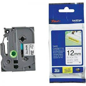 Brother Original TZES231 Noir sur Blanc Ruban Laminé | 12mm de large | 1 rouleau(x) de la marque Brother image 0 produit