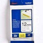 Brother Original TZES231 Noir sur Blanc Ruban Laminé | 12mm de large | 1 rouleau(x) de la marque Brother image 1 produit