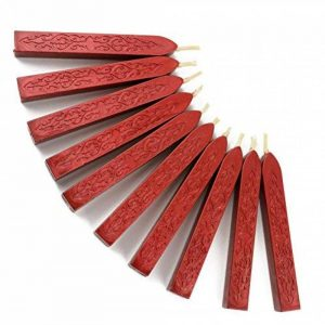 Cachet de Cachetage de Cachetage de Manuscrit de Totem de Feu de 10 PCs pour la Lettre D'affranchissement Cachet de Cachet VAncien de Cire de Cru (Vin Rouge) de la marque Makhry image 0 produit