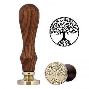 Cachet de cire, Mogoko vintage rétro classique cachet de cire en cuivre avec encreur Fancy Pattern (plusieurs motifs disponibles) Tree Of Life de la marque Mogoko image 0 produit