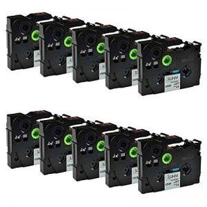 Caidi Premium 10x Cassette Ruban laminé Tape Cassette pour tZ Tape 231TZ231tZE231TZe-231TZe 231tZ 231TZ-23112mm Noir sur Blanc pour Brother P-Touch 100010101080109012001200P 1230PC 125012801290175018001850200220240024502460247024 image 0 produit