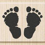 cArt-Us tampon bois empreintes de pieds naissance - 3,5 x 2,8 cm de knorr prandell de la marque cArt-Us image 2 produit