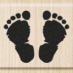 cArt-Us tampon bois empreintes de pieds naissance - 3,5 x 2,8 cm de knorr prandell de la marque cArt-Us image 4 produit
