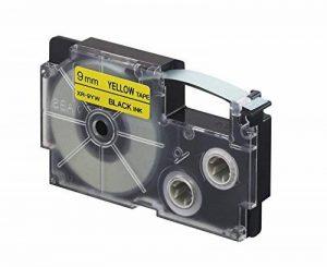 Casio Ruban adhésif pour étiqueteuse électronique Noir sur jaune 9 mm (Import Royaume Uni) de la marque Casio image 0 produit