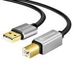 Câble Imprimante 3M, POSUGEAR USB 2.0 A vers B Mâle Câble Printer Scanner Plaqué Or pour Les Imprimantes HP, Canon, Dell, Lexmark, Epson, Xerox, Samsung et Autres de la marque POSUGEAR image 1 produit