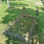CFtrum Pyramide Moustiquaire Lit de Camping de Voyage (Lit Simple) de la marque CFtrum image 4 produit