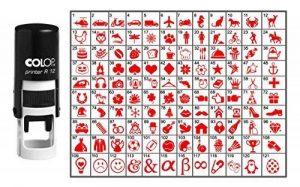 Choisissez votre Stamp Icône ronde en caoutchouc personnalisé auto-encrage COLOP Mini Stamper 12 mm- Red Ink de la marque Printtoo image 0 produit