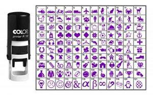 Choisissez votre Stamp Icône ronde en caoutchouc personnalisé auto-encrage COLOP Mini Stamper 12 mm-Violet Ink de la marque Printtoo image 0 produit
