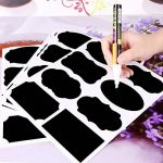 CiaraQ 40 Noir Tableau d'autocollants Amovible, Reusable Vinyle Stickers pour, étiquettes pma-10 avec marqueurs Craie Liquide pour Verres, Alimentaire, Épices, Lunettes, Bureau Simple Organiser de la marque CiaraQ image 1 produit