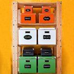 CiaraQ 40 Noir Tableau d'autocollants Amovible, Reusable Vinyle Stickers pour, étiquettes pma-10 avec marqueurs Craie Liquide pour Verres, Alimentaire, Épices, Lunettes, Bureau Simple Organiser de la marque CiaraQ image 3 produit