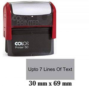 Colop Auto Encreur En Caoutchouc Personnalisé Jusqu'À 7 Lignes De Texte 30Mm X 69Mm de la marque Printtoo image 0 produit