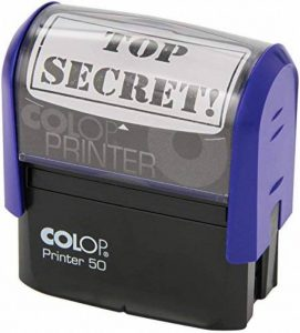 "COLOP Printer 50 Tampon encreur ""TOP SECRET!"" Noir (Import Royaume Uni) de la marque Colop image 0 produit"