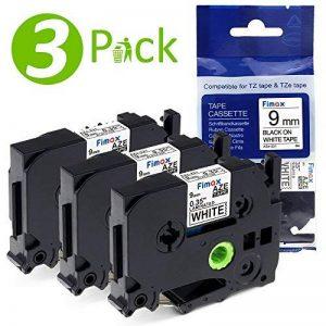 Compatible pour Brother TZe-221 Ruban Laminé 9mm Noir sur Blanc Etiqueteuse Cassette pour Brother P-Touch (Lot de 3) de la marque Fimax image 0 produit