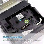 Compatible pour Brother TZe-221 Ruban Laminé 9mm Noir sur Blanc Etiqueteuse Cassette pour Brother P-Touch (Lot de 3) de la marque Fimax image 2 produit