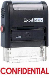 Confidentielles auto-encreur Tampon en caoutchouc–ENCRE Rouge (42a1539web-r) par Excelmark de la marque ExcelMark image 0 produit