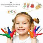 Coussins encreurs, Mture 24 Couleurs Tampon Encreur Encre Empreinte Digitale Pour usage avec Caoutchouc Timbres sur Papier, bon cadeau pour les enfants de la marque Mture image 3 produit