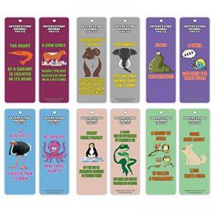 Creanoso lire l'apprentissage amusant Animal générale Série 1Marque-page Cartes (60-pack)–Ensemble de l'apprentissage Motivante animaux–Excellent lecture Collection Bookmarker Cartes pour garçons, filles, adolescents, les jeunes lecteurs de la marque image 0 produit