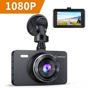"""Crosstour Dashcam 1080P 12MP Caméra Embarquée Voiture Full HD 3"""" LCD 170° Grand-Angle avec WDR, G-Sensor, Enregistrement en Boucle et Détection de Mouvement de la marque Crosstour image 0 produit"""