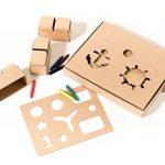 De gros blocs de construction, un jouet créatif avec 30 blocs taille XL, 2 pochoirs, crayons et 2 séries d'étiquettes – merveilleux cadeau pour les garçons de la marque GIGI BLOKS image 2 produit