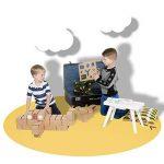 De gros blocs de construction, un jouet créatif avec 30 blocs taille XL, 2 pochoirs, crayons et 2 séries d'étiquettes – merveilleux cadeau pour les garçons de la marque GIGI BLOKS image 3 produit
