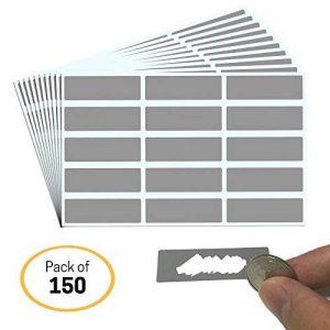 DIY Cartes à gratter (Scratch Card) Autocollant - Rectangle, Paquet de 150 de la marque ScratchStix image 0 produit