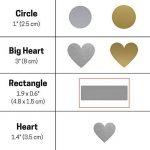 DIY Cartes à gratter (Scratch Card) Autocollant - Rectangle, Paquet de 150 de la marque ScratchStix image 1 produit