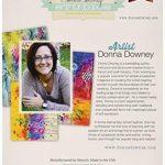 Donna Downey Pochoirs Plastique Signature 21,6cm X 21,6cm, Anémone Duo de la marque Donna Downey Stencils image 1 produit