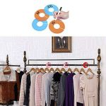 Dreamtop 20pcs Multicolor Vêtements de taille Intercalaires vierge ronde cintres Intercalaires pour placards, vente au détail Vêtements étagère de la marque Dreamtop image 2 produit