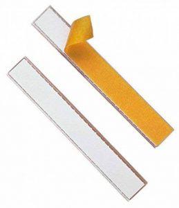 Durable 802019 Labelfix Porte - Etiquette Adhésif Longueur 200 mm - Hauteur 20 mm - à Decouper selon Besoins Sachet de 10 de la marque Durable image 0 produit