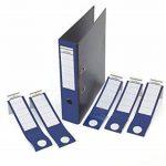 Durable 809006 Ordofixetiquette Adhésive pour Dos de Classeur 70 mm - Format 60 x 390 mm Coloris Bleu Sachet de 10 de la marque Durable image 1 produit