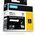 Dymo 1805442 Étiquettes Industrielles Autocollantes en Polyester Rhino, 6mmX5,5M, Impression en Noir sur Fond Blanc de la marque DYMO image 3 produit