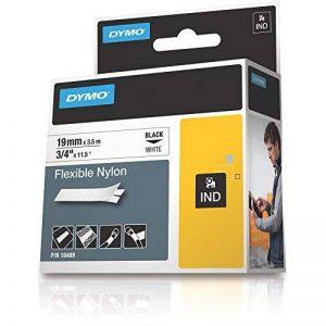 Dymo 18489 Étiquettes Industrielles en Nylon Flexible Rhino Pro, Rouleau de 19mm x 3,5m, Autocollantes, Impression en Noir sur Fond Blanc de la marque DYMO image 0 produit