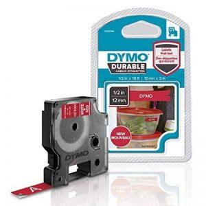 DymoD1 Ruban d'étiquette résistant pour Etiqueteuse 12mm x3 m Blanc/Rouge de la marque DYMO image 0 produit