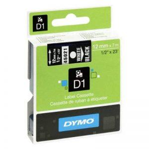 Dymo D1 Étiquettes Standard 12 mm x 7 m - Blanc sur Noir de la marque DYMO image 0 produit