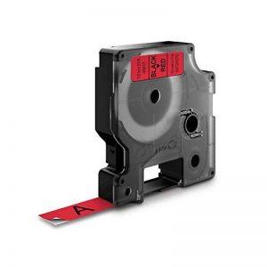 Dymo D1 Étiquettes Standard 12 mm x 7 m - Noir sur Rouge de la marque DYMO image 1 produit