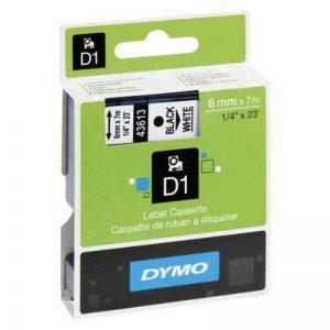 Dymo D1 Étiquettes Standard 6 mm x 7 m - Noir sur Blanc de la marque DYMO image 0 produit