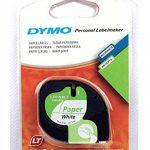 Dymo LetraTag LT-100H Plus Étiqueteuse Portable avec support mural aimanté + Dymo LetraTag Ruban Papier 1,2 cm x 4 m - Noir sur Blanc de la marque image 2 produit