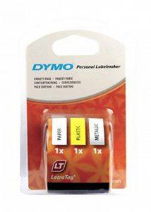 Dymo LetraTag Rubans Tripack 1,2 cm x 4 m - Assortiment (Lot de 3) de la marque DYMO image 0 produit