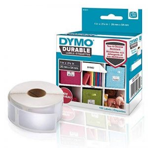 DYMOLW Étiquettes résistantes pour étiqueteuses LabelWriter, plastique blanc, 25x 54mm, rouleau de160 (1976411) de la marque DYMO image 0 produit