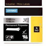 Dymo Rhino Etiquettes Industrielles Polyester Permanent 12mm x 5,5m - Noir sur Métallique de la marque DYMO image 0 produit