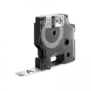 Dymo Rhino Etiquettes Industrielles Polyester Permanent 12mm x 5,5m - Noir sur Métallique de la marque DYMO image 1 produit