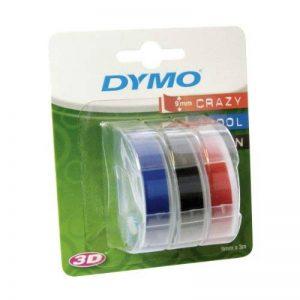 Dymo Ruban de Marquage 3D 9 mm x 3 m - Noir/Bleu/Rouge (Lot de 3) de la marque DYMO image 0 produit