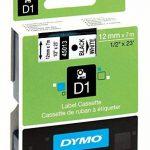 Dymo S0720530 45013 Lot de 5recharges D1 de ruban à étiqueter 12x7mm noir sur blanc de la marque DYMO image 1 produit