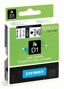 Dymo S0720530 D1 Etiquettes Standard 12 mm x 7 m - Noir sur Blanc de la marque DYMO image 0 produit