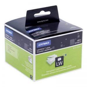 Dymo S0722410 Etiquettes d'Adresse Autocollantes Dymo Label Writer, 36mm x 89mm, Transparent, Rouleau de260 de la marque DYMO image 0 produit
