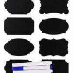 Eachgoo Etiquettes de Cuisine,64 réutilisables Autocollants Étiquette Tableau Noir pour Bouteilles, Verres,étiquettes de cadeau avec Marqueurs Craie Liquide de la marque Eachgoo image 1 produit